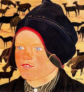 Ernest Bieler - The Kid with sheep