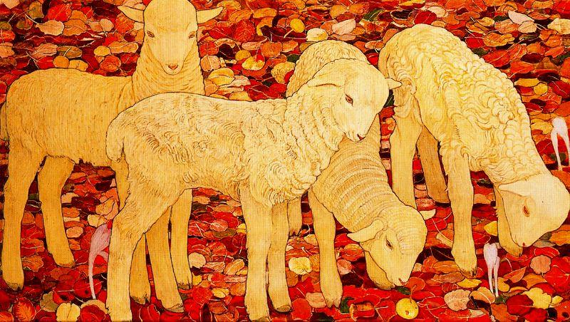 The Sheep Montorge by Ernest Bieler (1863-1948, Switzerland) | Museum Quality Copies Ernest Bieler | WahooArt.com