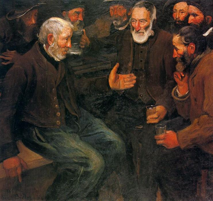 The Vigil by Ernest Bieler (1863-1948, Switzerland) | Museum Art Reproductions Ernest Bieler | WahooArt.com