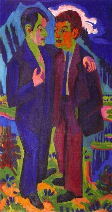 Albert Müller and Hermann by Ernst Ludwig Kirchner (1880-1938, Germany)