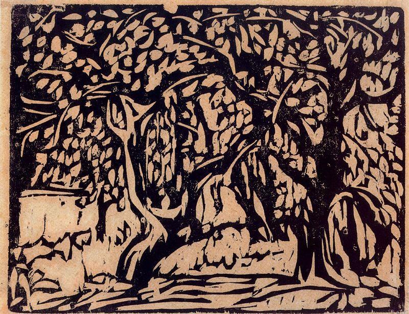 Apple trees laden with fruit by Ernst Ludwig Kirchner (1880-1938, Germany) | WahooArt.com