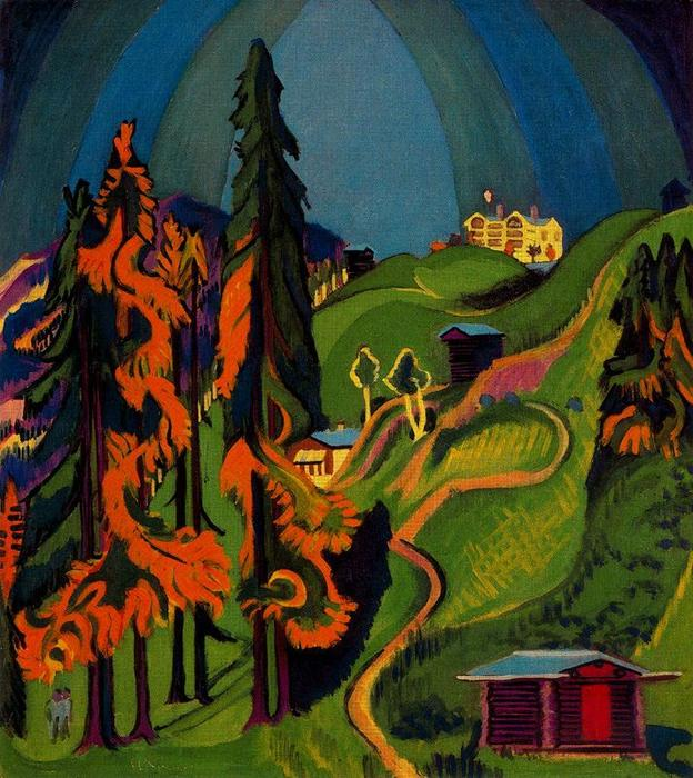 Autumn landscape by Ernst Ludwig Kirchner (1880-1938, Germany)