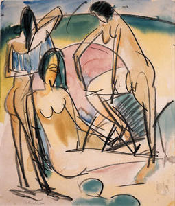 Ernst Ludwig Kirchner - Bathers on the beach, Fehmarn