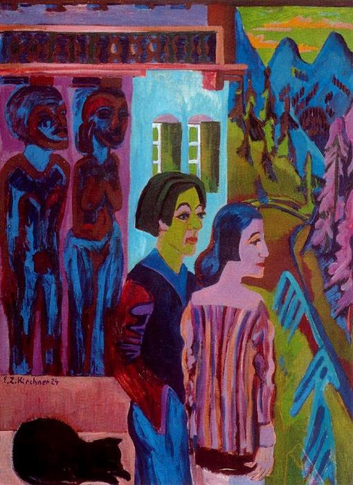 before Sunrise by Ernst Ludwig Kirchner (1880-1938, Germany)