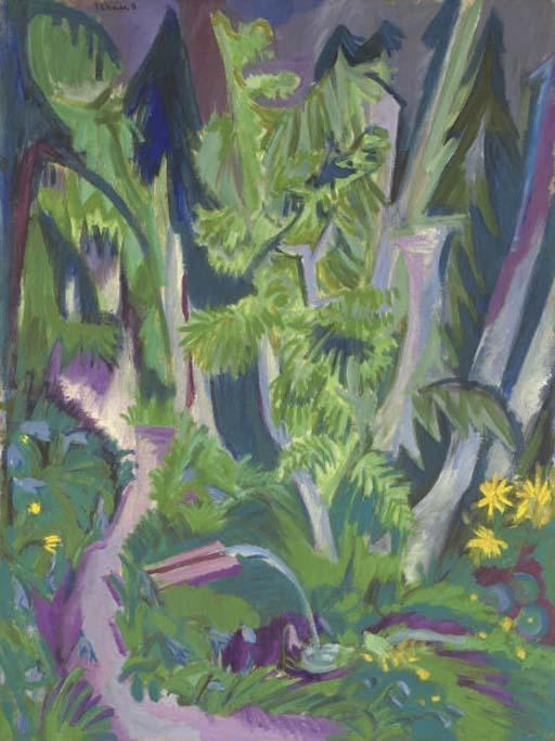Bergwald by Ernst Ludwig Kirchner (1880-1938, Germany) | Oil Painting | WahooArt.com