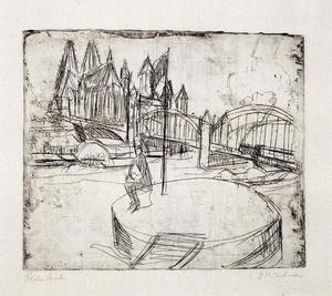 Ernst Ludwig Kirchner - Bridge over the Rhine in Cologne