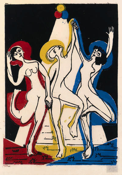 Color dance by Ernst Ludwig Kirchner (1880-1938, Germany)