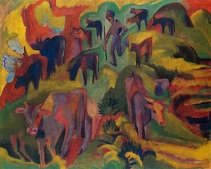 Ernst Ludwig Kirchner - Cows grazing
