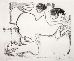 Ernst Ludwig Kirchner - Dodo plays with her fingers