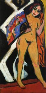 Ernst Ludwig Kirchner - Dodo with Large Fan