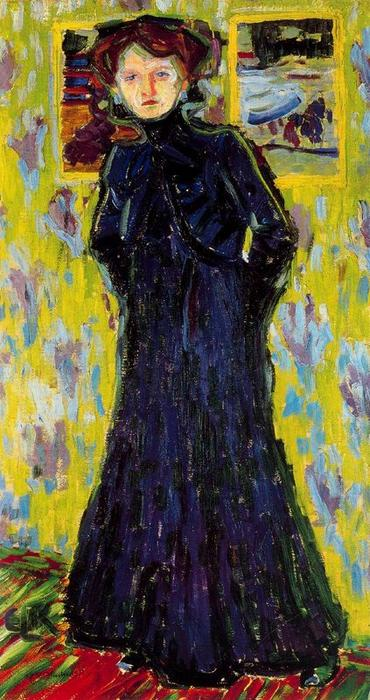Doris standing by Ernst Ludwig Kirchner (1880-1938, Germany) | Painting Copy | WahooArt.com