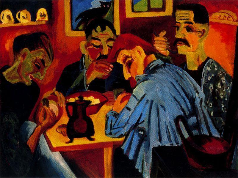 Farmers at Noon by Ernst Ludwig Kirchner (1880-1938, Germany)