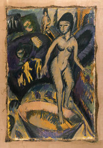 Ernst Ludwig Kirchner - Female Nude with hot tub