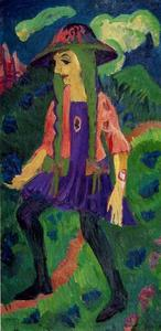 Ernst Ludwig Kirchner - Girl in the meadow