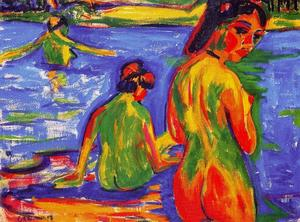 Ernst Ludwig Kirchner - Girls who bathe in the lake