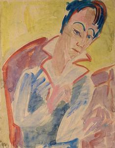 Ernst Ludwig Kirchner - Head of a woman