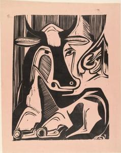 Ernst Ludwig Kirchner - Large Cow Reclining