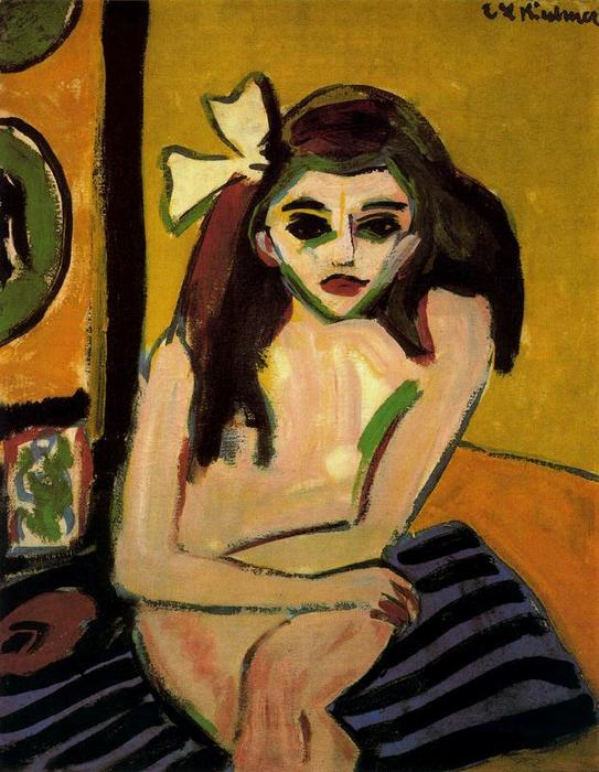 Marcella, 1909 by Ernst Ludwig Kirchner (1880-1938, Germany)