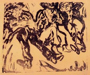 Ernst Ludwig Kirchner - Monarchs in the ditch