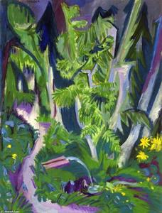 Ernst Ludwig Kirchner - Mountain Forest