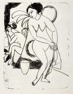 Ernst Ludwig Kirchner - Naked girls in the studio