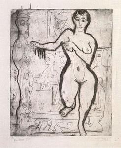 Ernst Ludwig Kirchner - Nude woman