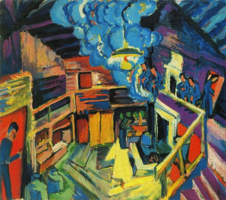 old hut by Ernst Ludwig Kirchner (1880-1938, Germany) | WahooArt.com