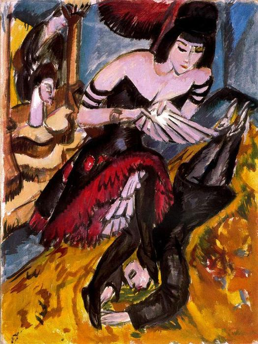 Pantomime Reimann, Revenge of the dancer by Ernst Ludwig Kirchner (1880-1938, Germany)