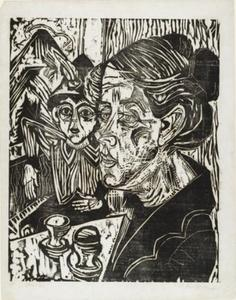 Ernst Ludwig Kirchner - Peasant Woman with Boy at Table