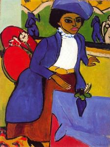 Ernst Ludwig Kirchner - Portrait of a lady 1