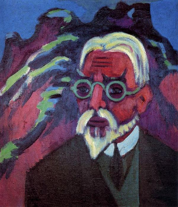 Portrait of Bosshart by Ernst Ludwig Kirchner (1880-1938, Germany)