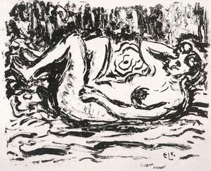 Ernst Ludwig Kirchner - reclining Nude