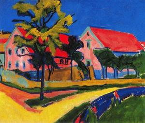 Ernst Ludwig Kirchner - Red houses