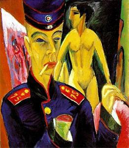 Ernst Ludwig Kirchner - Self-Portrait as a Soldier