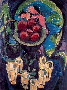Ernst Ludwig Kirchner - Still Life with Bichier