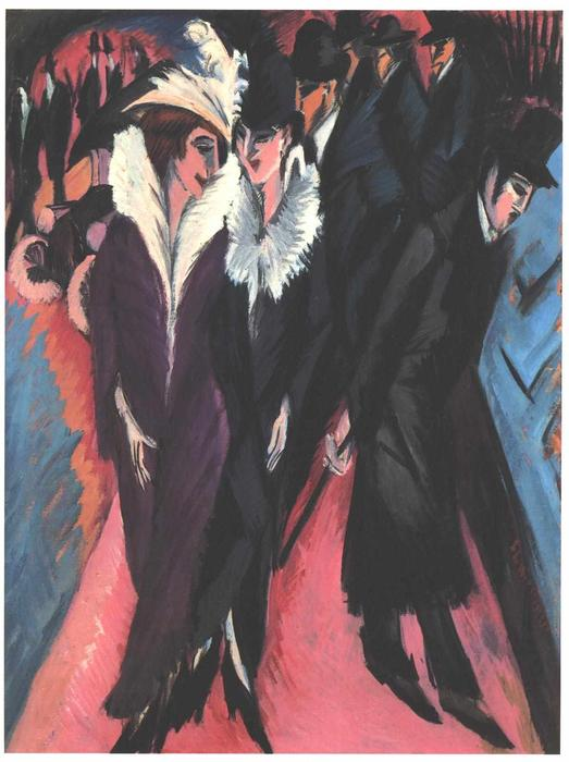 Street, Berlin, 1913 by Ernst Ludwig Kirchner (1880-1938, Germany) | Art Reproduction | WahooArt.com