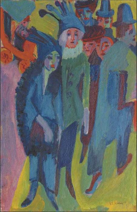 Streetscene 3 by Ernst Ludwig Kirchner (1880-1938, Germany) | WahooArt.com