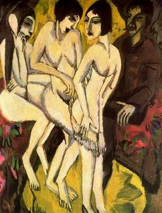 Ernst Ludwig Kirchner - The Judgement of Paris - (oil painting reproductions)