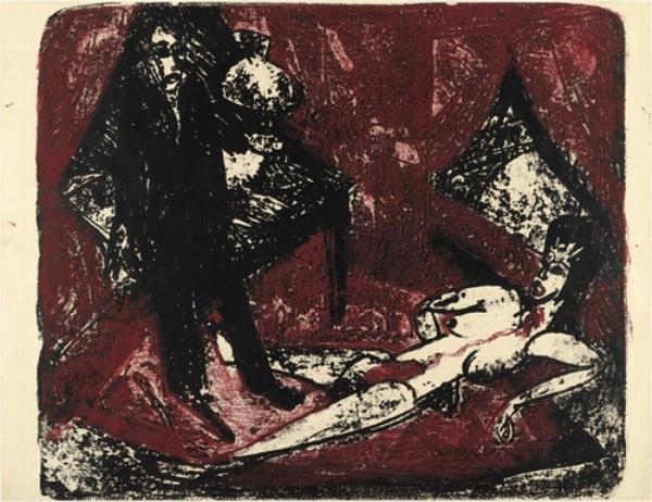 The Murderer by Ernst Ludwig Kirchner (1880-1938, Germany)