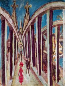 Ernst Ludwig Kirchner - The Rhine Bridge