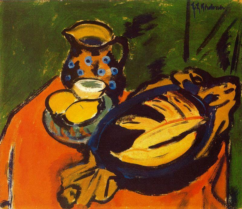 The wooden bowl by Ernst Ludwig Kirchner (1880-1938, Germany)