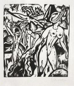 Ernst Ludwig Kirchner - Three bathers 1