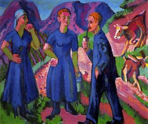 Ernst Ludwig Kirchner - three farmers