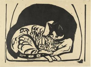 Ernst Ludwig Kirchner - Two Cats
