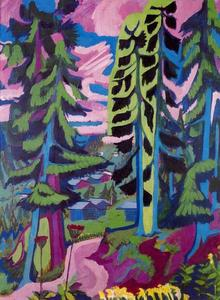 Ernst Ludwig Kirchner - Wildboden, Woods Mountain Trail (summer)