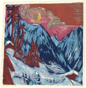 Ernst Ludwig Kirchner - Winter Moonlit Night