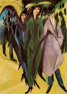 Ernst Ludwig Kirchner - Women in the street - (oil painting reproductions)