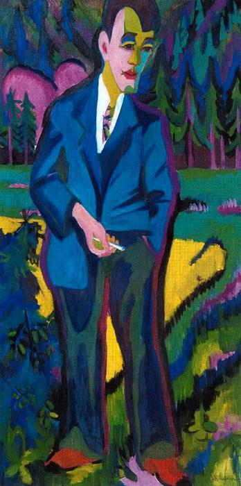 Young artist, Hans Schiess by Ernst Ludwig Kirchner (1880-1938, Germany)