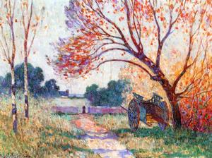 Ferdinand Du Puigaudeau - A Cart by the Side of the Path