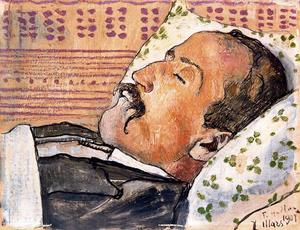 Ferdinand Hodler - Portrait of the poet Louis Duchosal on his deathbed